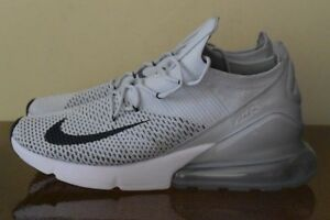 Details about Nike Air Max 270 Flyknit Pure PlatinumBlack Dark Grey AO1023 003 Sz 11