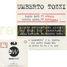 UMBERTO TOZZI RARO CD 1997 PROMOZIONALE 5 BRANI