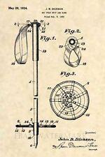 Official FIRST Ski Pole US Patent Art Print- Vintage Antique Rossignol Poles 437