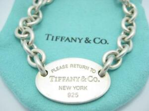afb4ee3e5 Please Return To Tiffany & Co. Sterling Silver Oval Tag Bracelet ...