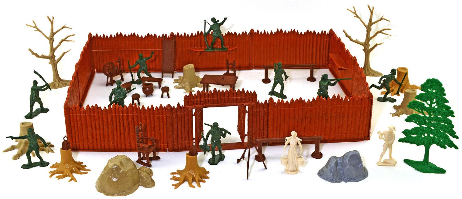 Marx Recast Boonesbgold Bundle - 54mm unpainted figures and accessories