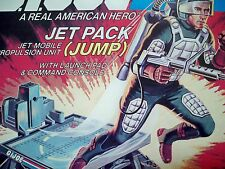 D1709956 JUMP JET PACK 1982 GI JOE 100% COMPLETE DECALED BLUEPRINTS LOOSE MINTY