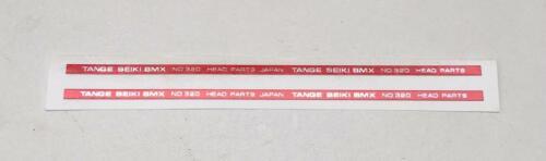 """Rosso ** ** Vecchia Scuola Bmx /""""Tange/"""" 320 Head-Set di decalcomanie"""