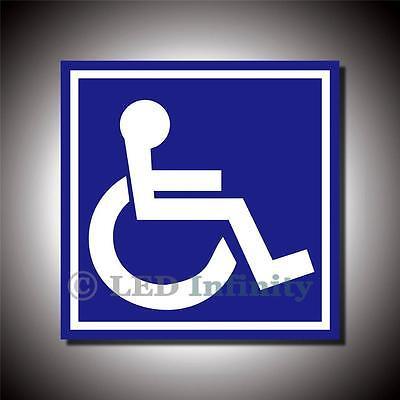 1pc Handicap Access Logo Specific Vehicle Window Door Stick Decal 4X4 Van #ST18
