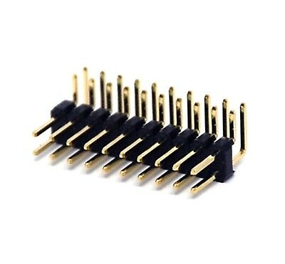 50PCS 2.54mm 2x3P Double Row Straight Male Pin Header Strip PBC Ardunio
