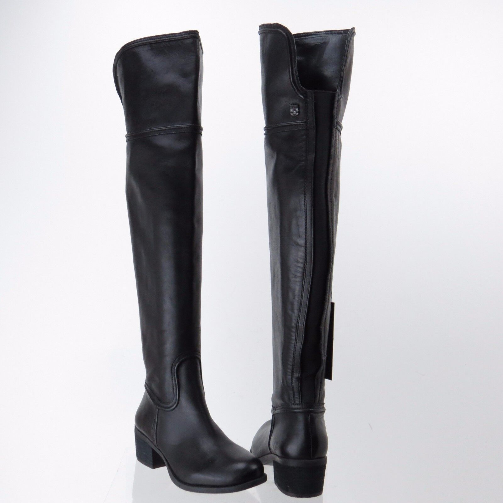 Women's Vince Camuto Baldwin 2 Black Leather Leather Leather Tall Knee Wide Calf Boot Sz 6 M NEW 6e9de6