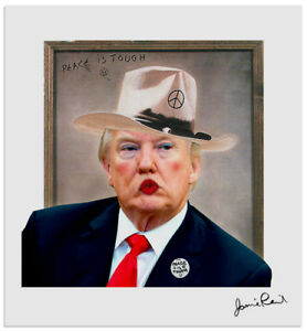 CAMPAIGN-SPECIAL-DONALD-TRUMP-PEACE-F-CKER-SIGNED-NUM-EDITION-PRINT-1-50