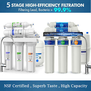 5 Stage Home Drinking Reverse Osmosis System RO Water Filter System 100 Membrane