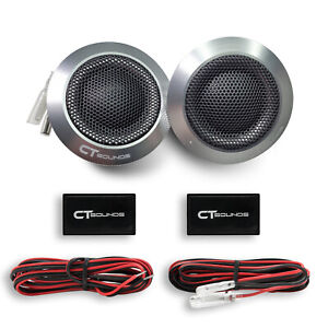 CT Sounds Meso 25mm Silk Dome Car Audio Metal Mesh Aluminium Tweeters Set (Pair)