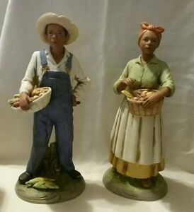Retired homco home interiors african american bounty our Eba home interior figurines