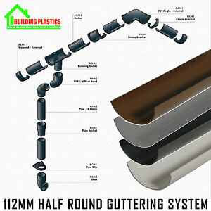 Half Round Guttering Downpipes Fittings Freeflow