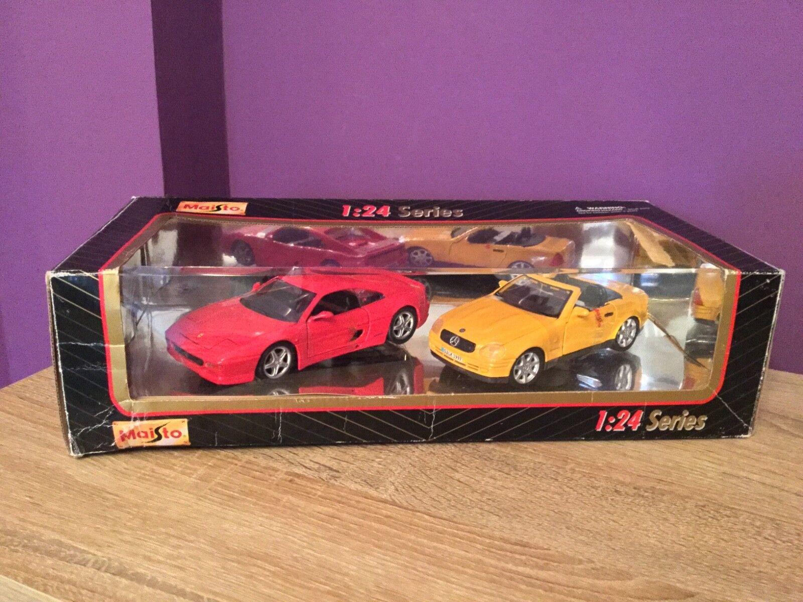 buen precio Maisto 1 24 Series Mercedes SLK 1997 1997 1997 y Ferrari F355 Coche Modelos. Coleccionable.  Todo en alta calidad y bajo precio.