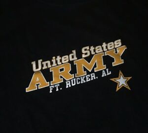 Vintage-UNITED-STATES-ARMY-FT-Rucker-T-shirt-Tee-XL