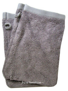 2-Garnier-Thiebaut-Gant-Mitt-Face-FRENCH-TOWEL-Antibacterial-Soft-Gray-New
