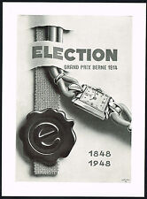 1940's Vintage 1948 Election Grand Prix Watch Mid Century Modern Art Print AD .