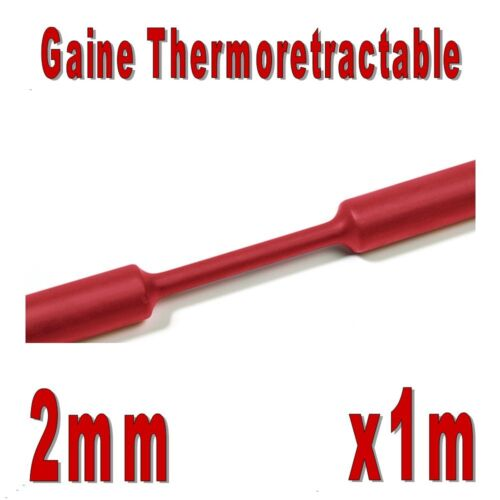 Gaine Thermo Rétractable Rouge 2:1 Diam 1m 2 mm