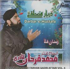 ALHAJ MUHAMMAD FARHAN QADRI ATTARI VOL 5 - DARBAR-E-MUSTAFA - NEW CD - FREE POST