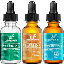 Anti Aging Set of Vitamin C Retinol Serum Hyaluronic Acid Facial Treatment-1 oz