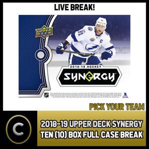 2018-19-UPPER-DECK-SYNERGY-10-BOX-FULL-CASE-BREAK-H280-PICK-YOUR-TEAM