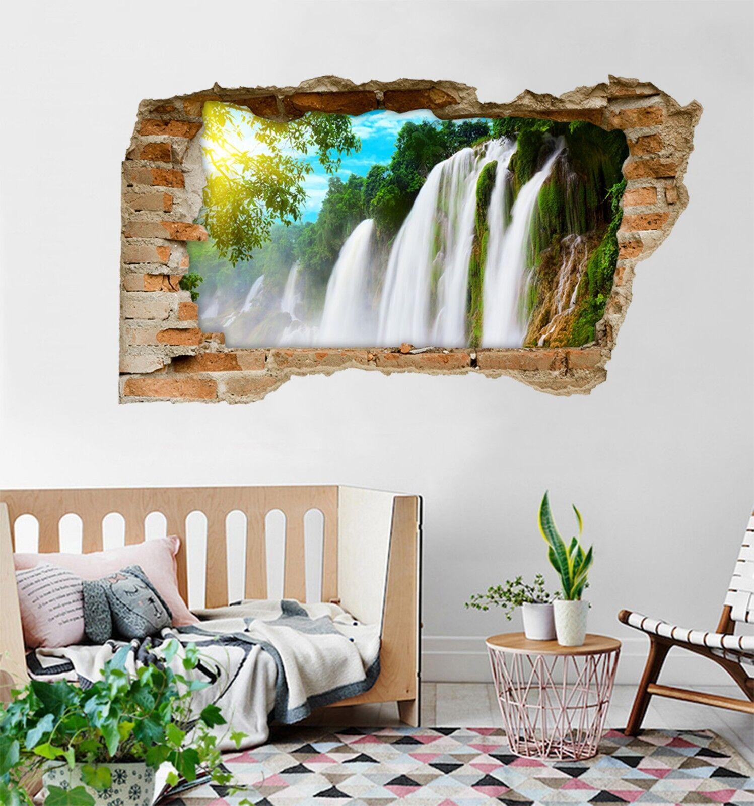 3D Wasserfall 204 Mauer Murals Mauer Aufklebe Decal Durchbruch AJ WALLPAPER DE