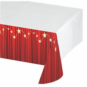 Hollywood-Plastic-Red-Carpet-Tablecloth-Tablecover-Oscars-Movie-Film-PARTY