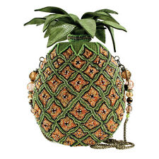 Mary Frances Pineapple Punch Yellow Green Fruit Spring 16 Beaded Bag Handbag NEW