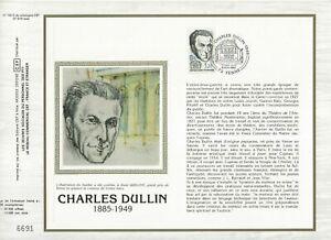 Foglio-CEF-1er-Giorno-Sul-Seta-Francia-Charles-Dullin-1985