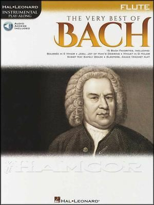 The Very Best Of Bach Flute Instrumental Play-along Classical Music Book/audio Famous For Selected Materials Novel Designs Delightful Colors And Exquisite Workmanship