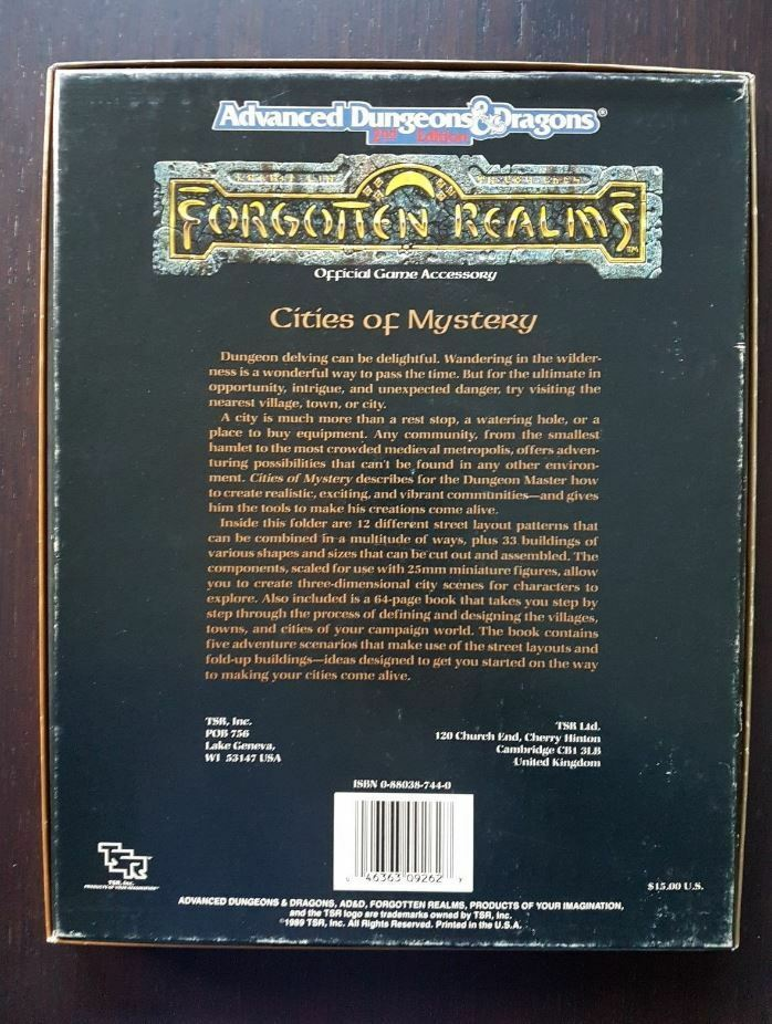 AD&D Forgotten Realms Cities of of of Mystery 9262 FR8 39fddc