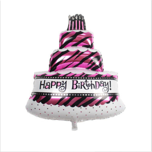 Wappy Birthday Cake Shape Foil Welium Balloon Birthday Party Decoration LE