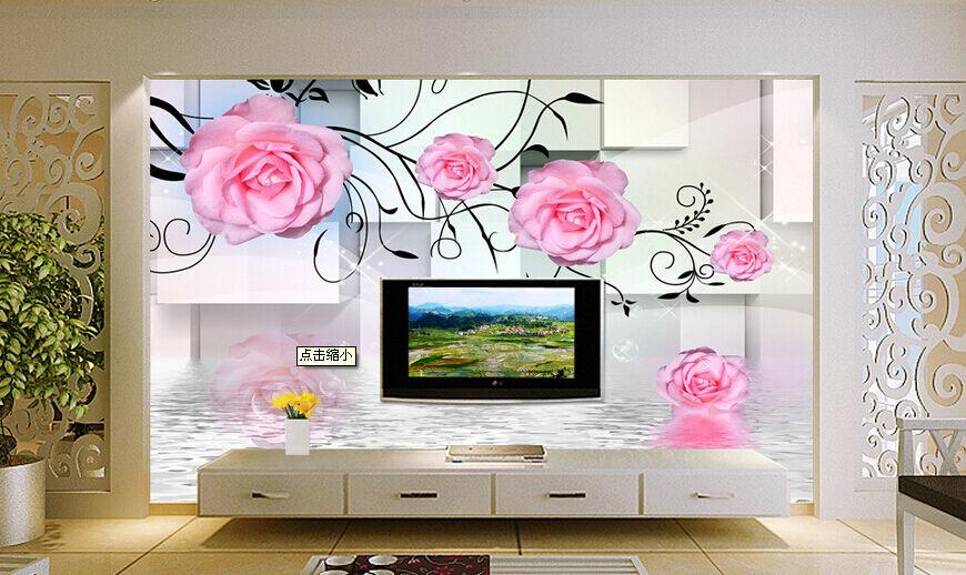 3D fiore stella Parete Murale Foto Carta da parati immagine sfondo muro stampa