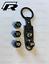 VW Nero Pneumatico Valvola Polvere TAPPI E PORTACHIAVI Nero Per Cerchi in lega BBS 17 18 19