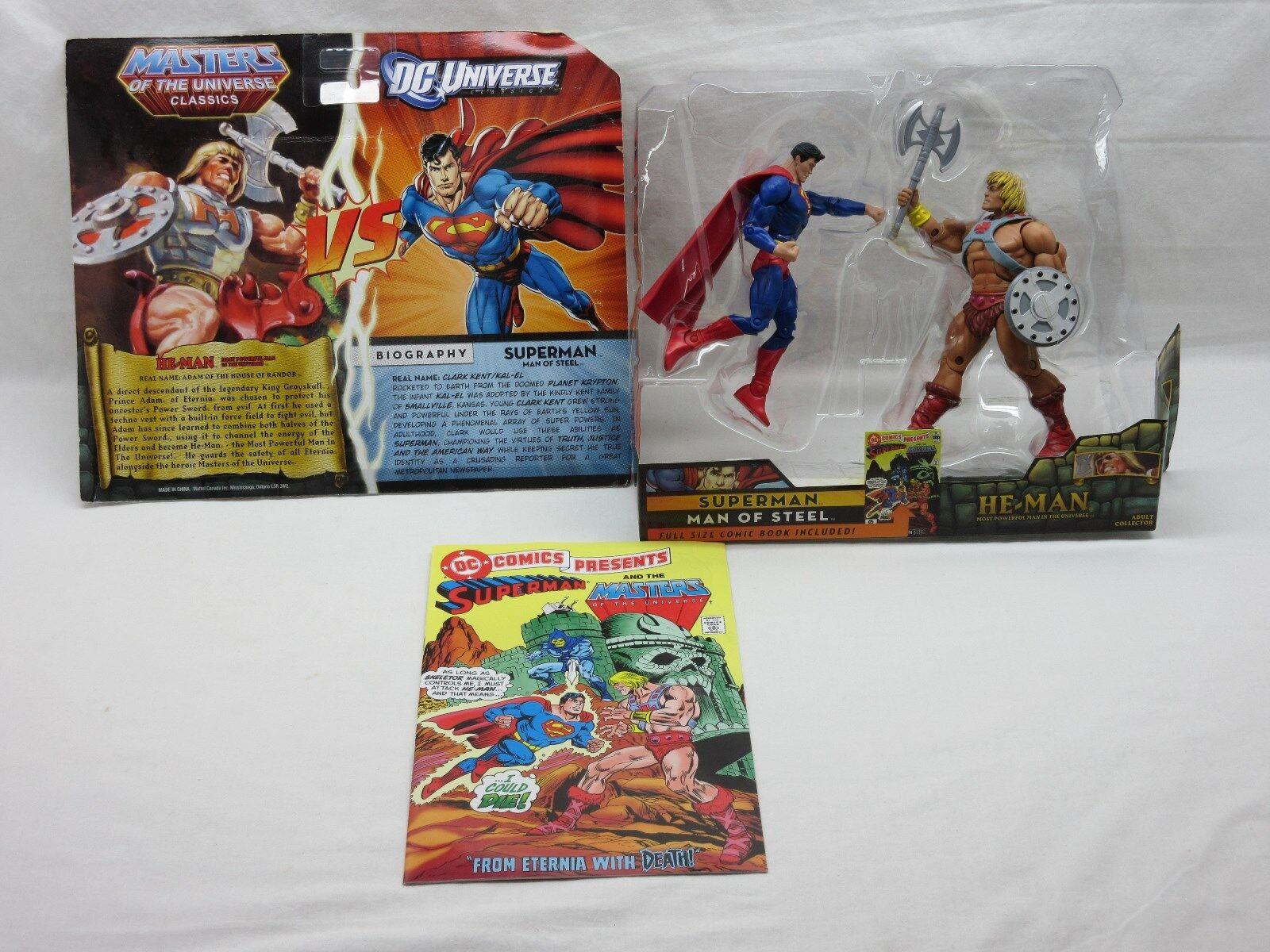 MOTU,MOTUC,He-Man vs Superman,MINT,DC Universe,figures,Masters Of the Universe