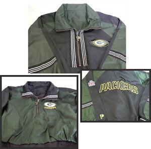 Green Bay Packer YOUTH KIDS LARGE Pro Player NFL REVERSIBLE Jacket Windbreaker