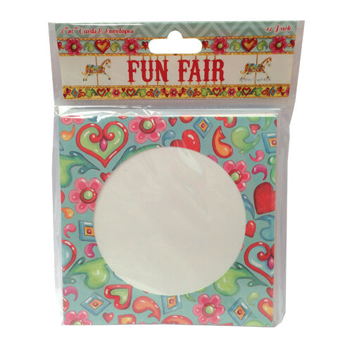 "Pack 12 fun fair par Helz CUPPLEDITCH cartes 6""x6"" /& enveloppes"