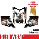 SLED WRAP DECAL STICKER GRAPHICS KIT FOR SKI-DOO REV MXZ SNOWMOBILE 03-07 SL6542