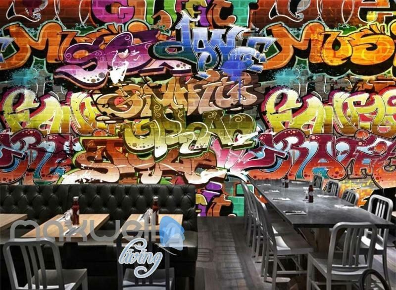 3D Graffiti Abstract Music Dance Art Wall Murals Wallpaper Decals Prints Decor