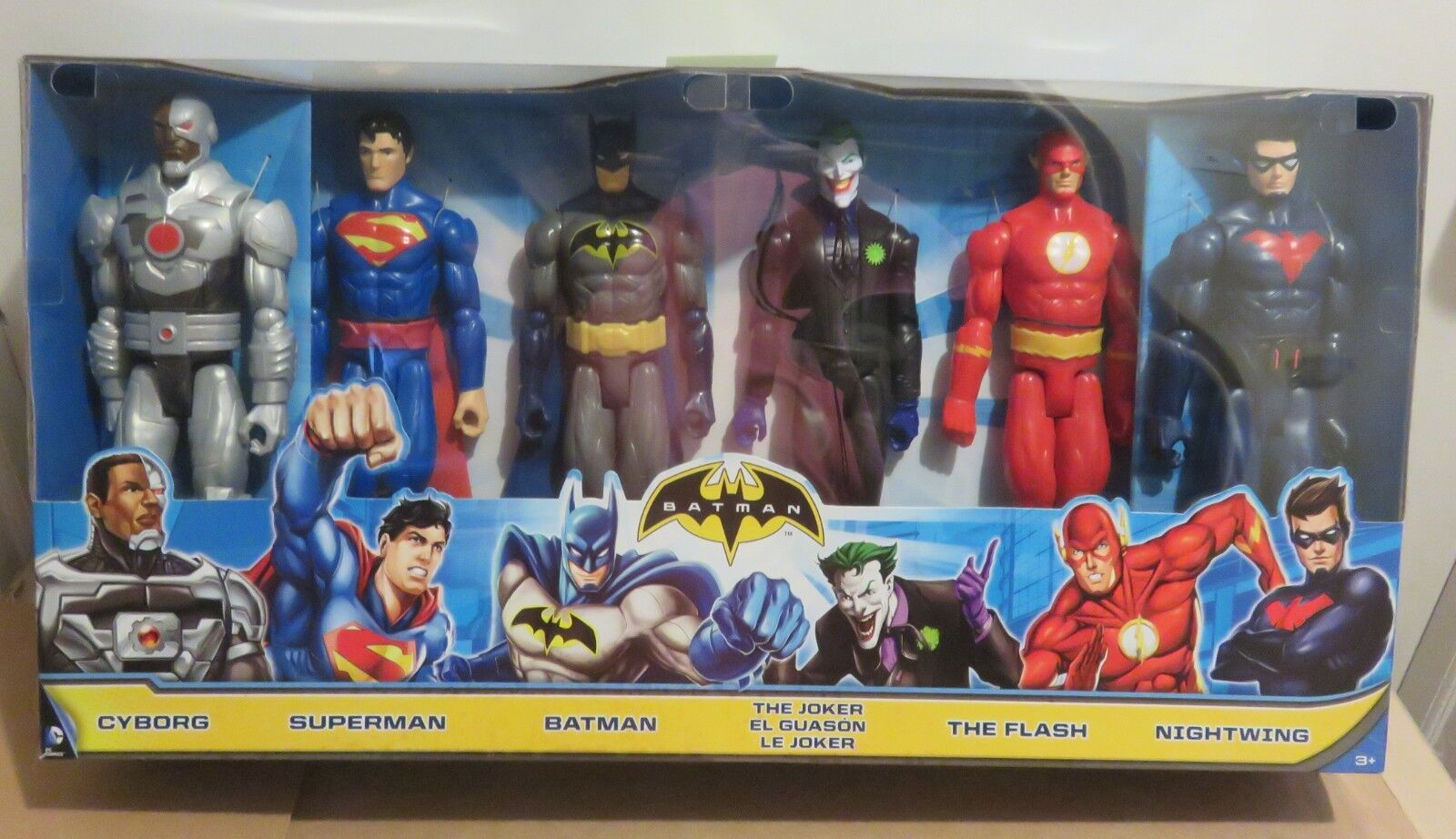 Batman 6 zahlen - cyborg, superman, batman, der joker flash nightwing neue