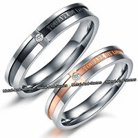 UNIQUE LOVE RINGS ROMANTIC VALENTINES XMAS GIFT FOR HER HIM WIFE HUSBAND COUPLES