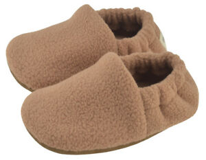Baby Slippers - Camel - Size 2 (3-6m