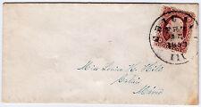 """#26A-3 Cents 1857, 65L10e, """"CHICAGO/FEB/25/1858."""" CDS TO CALAIS, ME black wax"""