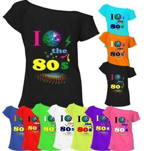 e106f486 I Love The 80s T-shirt Top Off Shoulder Ladies Womens Retro Fancy ...