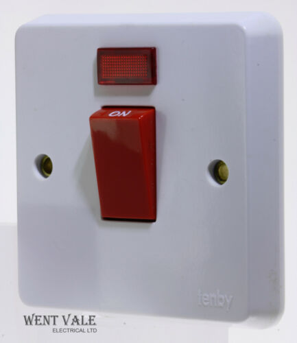 Tenby Glacier 7767-45a 1 Gang Double Pole Switch With Neon Unused