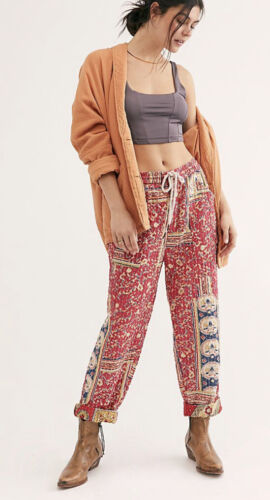 Free People Road Again Patch Work Boho Pants XL $1