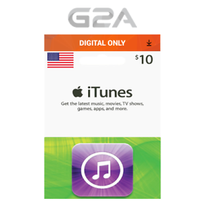 Details about iTunes Gift Card $10 USD Key - 10 Dollar US Apple Store Code  for iPhone iPad Mac