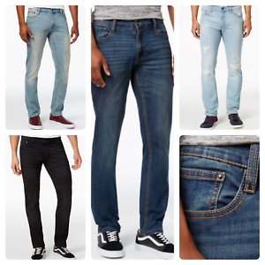 Men-039-S-ROF-ALLA-MODA-NUOVO-SABBIA-Wash-Slim-Fit-Denim-Jeans-Stretch-FLEX
