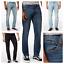 Men-039-S-ROF-ALLA-MODA-NUOVO-SABBIA-Wash-Slim-Fit-Denim-Jeans-Stretch-FLEX miniatura 1