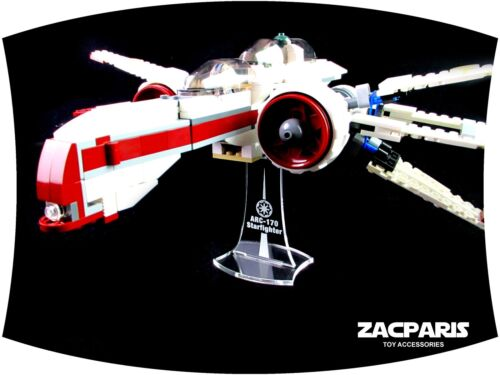DISPLAY STAND for Star Wars Lego 7259 8088 ARC-170 Clear acrylic Nice!