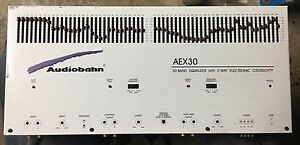 Old School Audiobahn 30 Band Equalizer With 2 Way Electronic Crossover,Rare,SQ | eBay