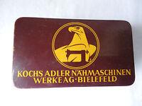 schöne alte Blechdose Kochs Adler Nähmaschinen-Werke AG Bielefeld seltene Dose